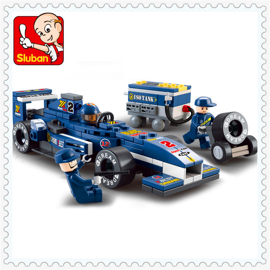 Piezas Parque F1 Racing Modelo 196 Azul De Juguetes Coche Bloques Construcción Fórmula R5j4AL3