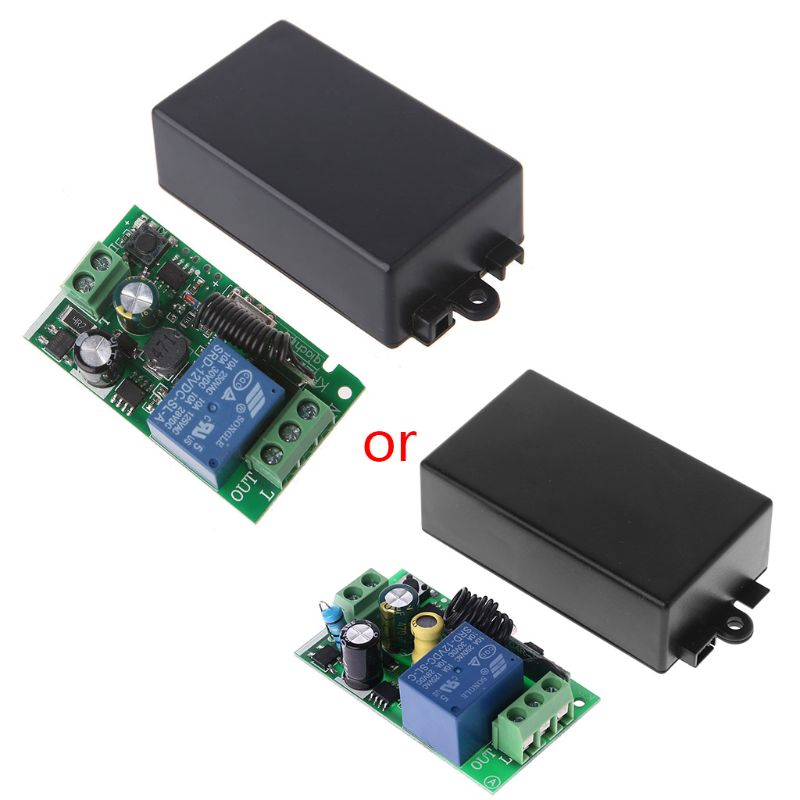 AC 220V 1CH RF 433MHz Wireless Remote Control Switch Module Learning Code Relay image