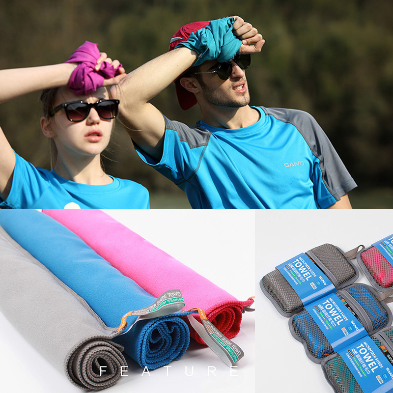 SanTo 31cm 75cm Microfiber Quick Drying Suede Towel Outdoor Cycling Swimming Hiking Fishing Travel Camping Ultralight