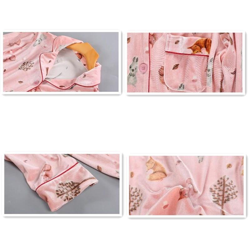 Smmoloa Autunno e Inverno Femminile Coreano Velluto Oro Dei Pigiami A due pezzi di Modo Delle Donne Degli Indumenti Da Notte - 6