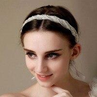 1 stücke hochwertigen haar mit Dinah braut haar luxus handgemachte kristall perle ornamente großhandel H26