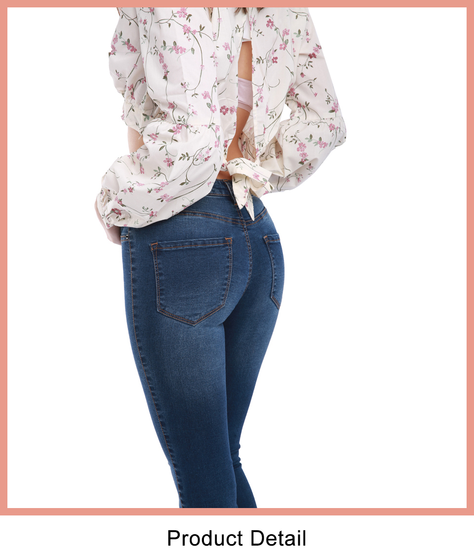 Autumn Winter Women Denim Skinny Pants Super Stretch Fake Front Pocket Waist Blue Grey Black White Slim Elastic Lady Jeans 29