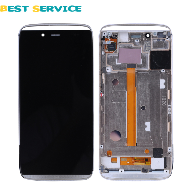 ФОТО For Alcatel One Touch Idol Alpha OT6032 6032 LCD Screen Display + Touch Screen Digitizer with Frame Assembly Black or Gold Color