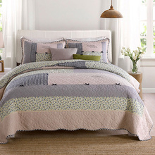 Quality Cotton Bedspread Quilt Set 3pcs Coverlet Korea Patchwork Quilts Aircondition Bed Cover King Queen Size Bedding Blanket