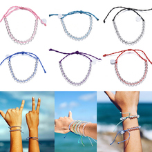 2019 Hot Sale Women Man Ocean Stone Bracelet Bohemian Style Weaving Bracelet Wholesale Dropshipping