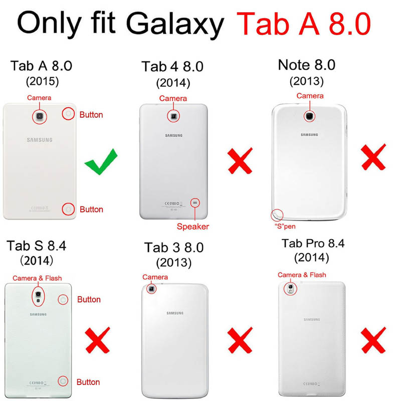 CucKooDo For Samsung Galaxy Tab A 8,Ultra Slim Lightweight Stand Cover with Auto Sleep/Wake For Tab A 8 inch SM-350 Tablet