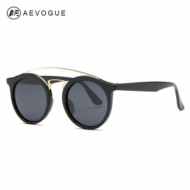 c6171fb1f1a2a AEVOGUE Polarized Sunglasses Women Retro Brand Designer Round Lens  Steampunk Unisex Sun Glasses With Box UV400
