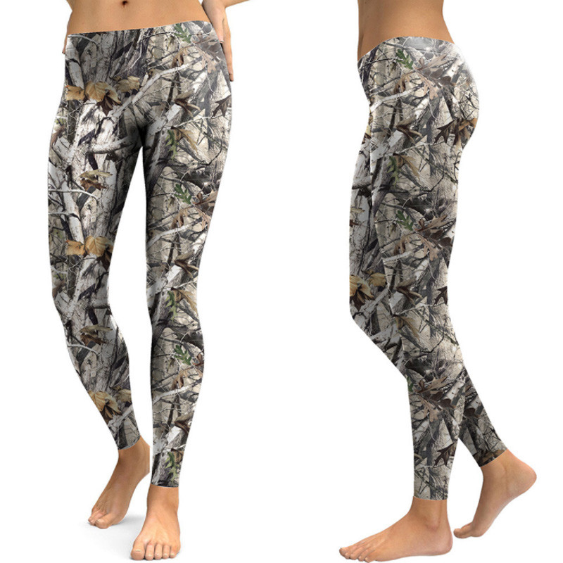 Women Fitness Leggings Camouflage Long Leggings Floral Summer