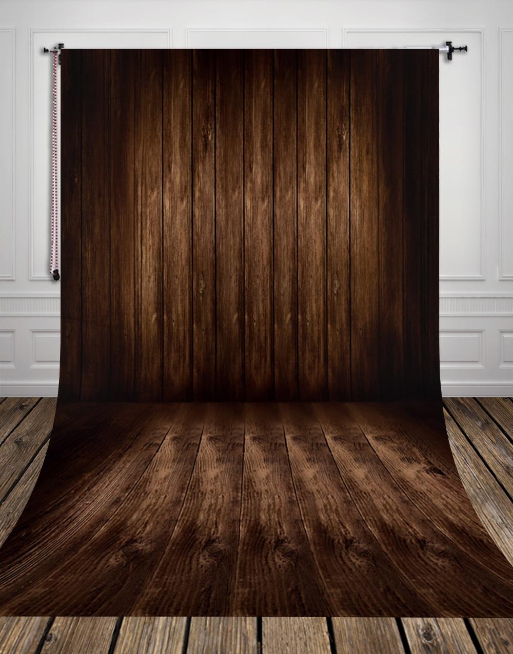 3D Dark Brown Wood Floor Photo Studio Background Made Of Studio For Indoor  Photography D
