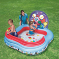 157 * 157 * 91cm square baby kid swimming pool large inflatable air filled ball slide pool child inflatable baby bath