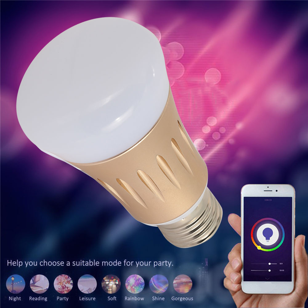 Dimmable Creative LED Bluetooth Bulb Light Bulb Gold E27/ B22 IEEE 802.11b / G / N Household Supply Party Supply WIFI Control mipow btl300 creative led light bluetooth aromatherapy flameless candle voice control lamp holiday party decoration gift