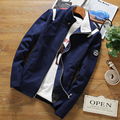 Плюс Размер 4XL Тонкий Мужчины Куртку Новый 2016 хлопок Ткань Теплая Осень Зима Мужские пальто бизнес случайный верхняя одежда clothing MQ487