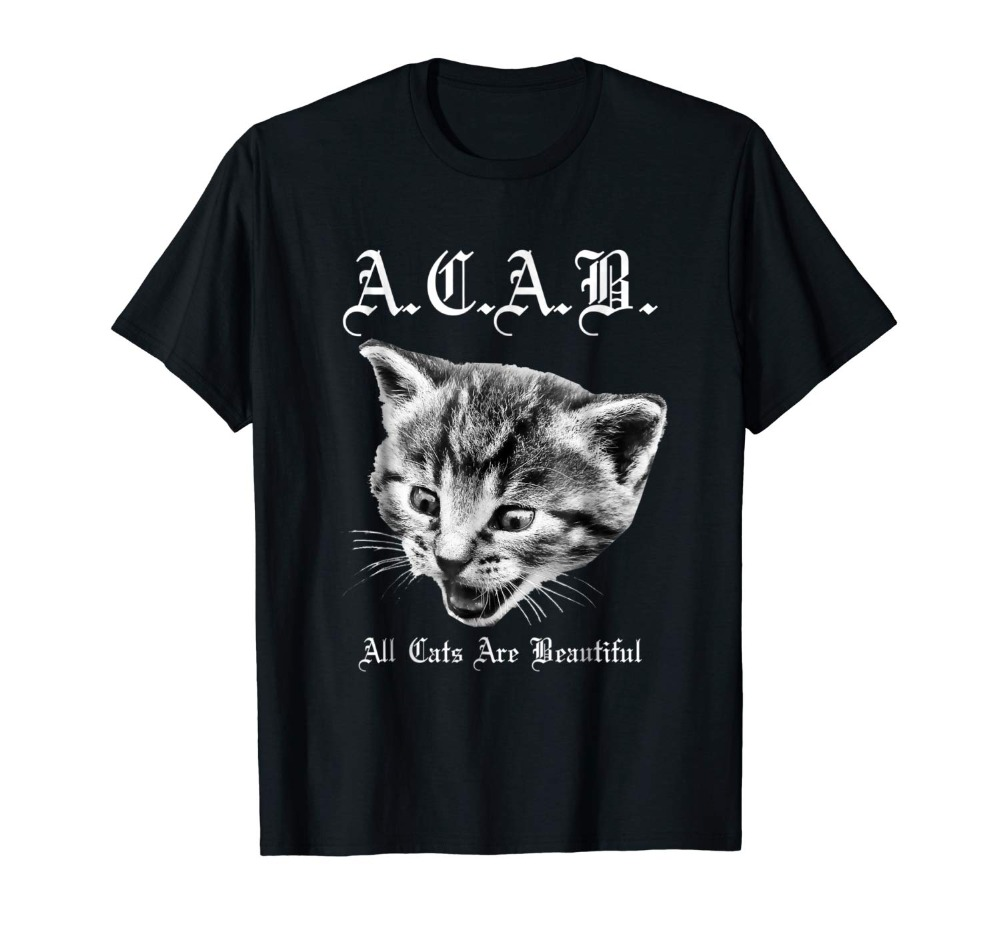 Hot Sale Brand New Fashion Summer Men A.C.A.B. T-Shirt - All Cats Are Beautiful shirts - ACAB.