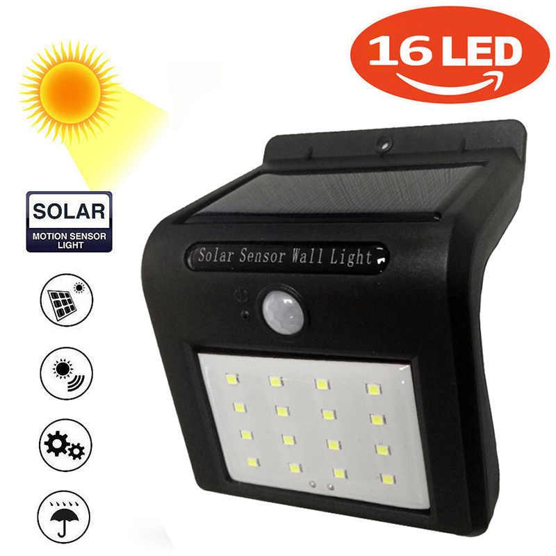 1 Pcs 16LED Solar Panel Power Lampu Dinding Lampu Sensor Gerak Luminaria Energi Tahan Air Lampu Tenaga Surya untuk Taman Kolam tangga