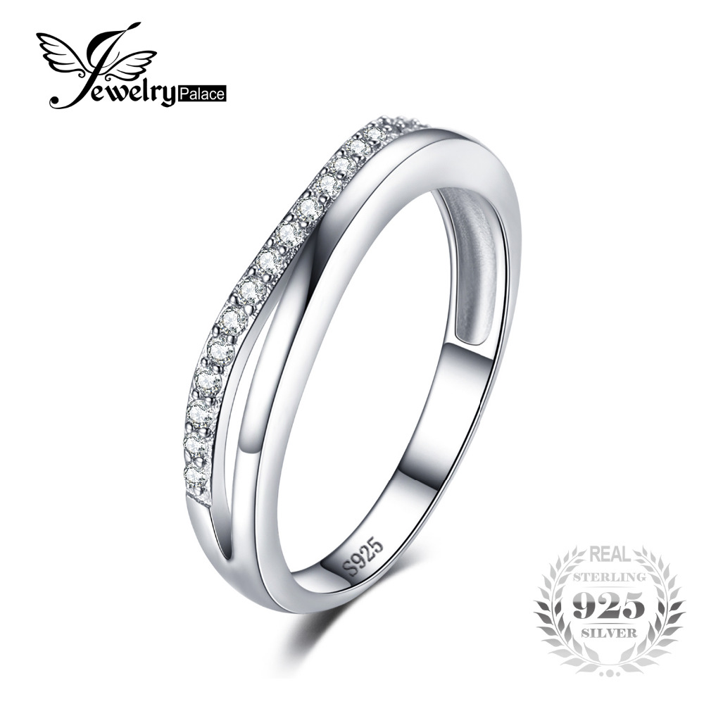 high quality pure 925 silver wedding band engagement ring. Black Bedroom Furniture Sets. Home Design Ideas