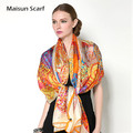 Latest large size fashion lady shawl real silk famous brand 2016 scarf