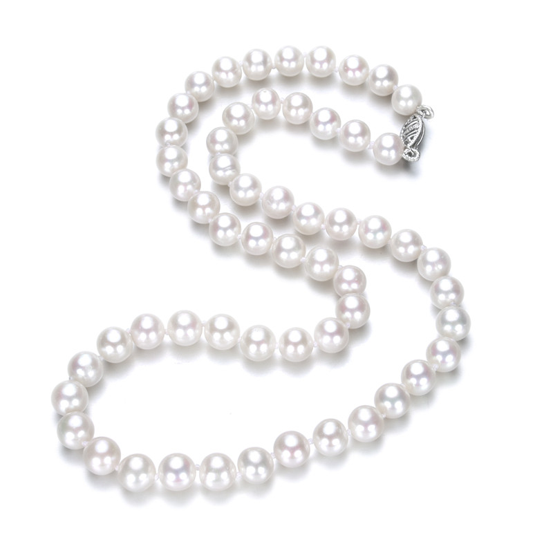 SNH Special offer white color 925silver  7-8MM full round AA grade  White Freshwater Pearl Choker Necklace for WomenSNH Special offer white color 925silver  7-8MM full round AA grade  White Freshwater Pearl Choker Necklace for Women