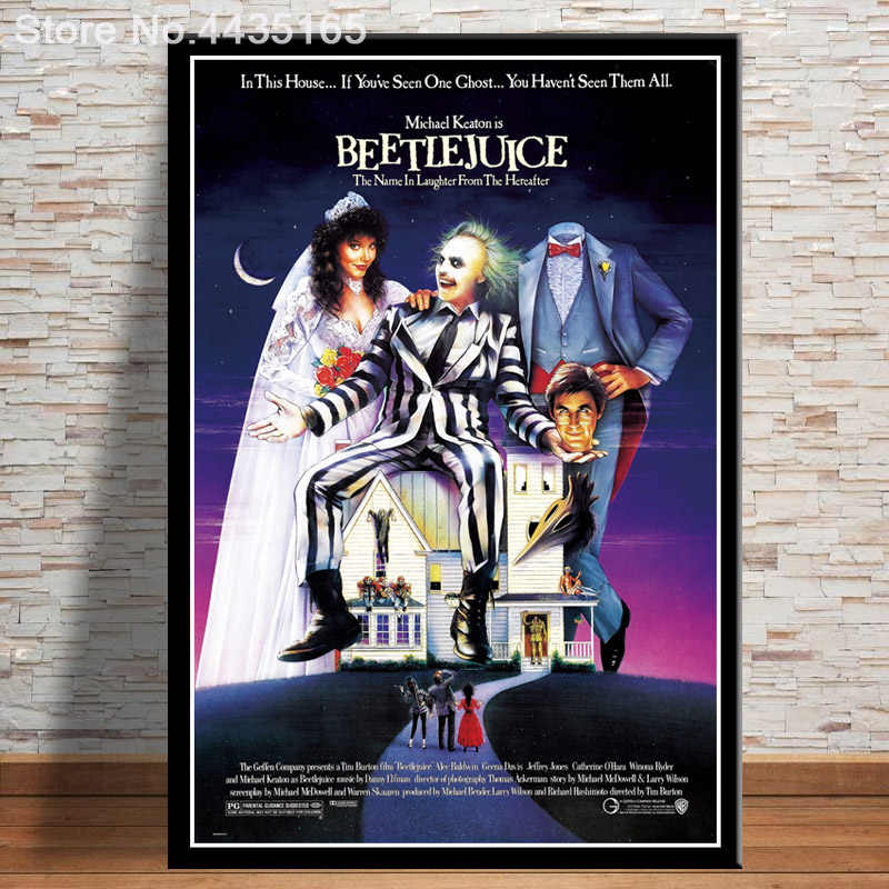 Beetlejuice Classic Horror Movie Poster Wall Art Picture Canvas Painting For Bar Decoration Posters And Prints Aliexpress