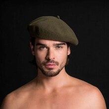 Men's Winter Wool Beret Octagon Hat French Artist Hat For Man Formal Wear Profes