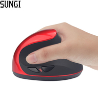 Hot Sale Optical Wireless Mouse Healthy Ergonomic Mouse 6 Bottons With DPI Switch Vertical Mouse For