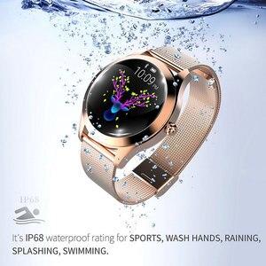 Image 2 - KW10 スマート腕時計女性IP68 防水心拍数モニターbluetoothアンドロイドios用フィットネスブレスレットスマートウォッチ