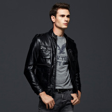 Free shipping,2016 Hot Sale Fashion Men's Leather Jacket Men's Casual quality brand motorcycle leather jackets men coat M-XXXL
