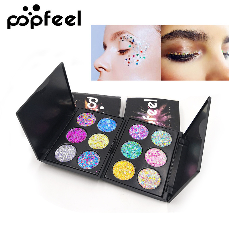 Eye Shadow Supply Glitter Makeup Eyeshadow Palette Children Stage Festival Party Makeup Shimmer Sequins Glitter Eye Shadow Palette Tslm1 Relieving Heat And Thirst.