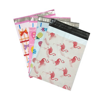 4 designs 25.5*33cm 10*13 inch Fashion Pink Flamingo/Heart/Pineapple pattern Poly Mailers Self Seal Plastic mailing Envelope Bag