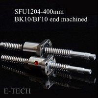 SFU1204 Complete Sets 1 Pcs L400mm Swf SFU1204 End Mechanical Treatment For BK10 BF10 1 Pcs