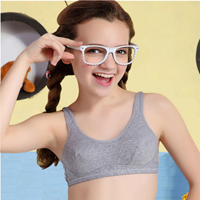 Cotton Soft Teenage Girls Underwear Bras Sports Kids Puberty Girl Bra Young  Students Sport Training Bra for Children Underwears e874b2a0e