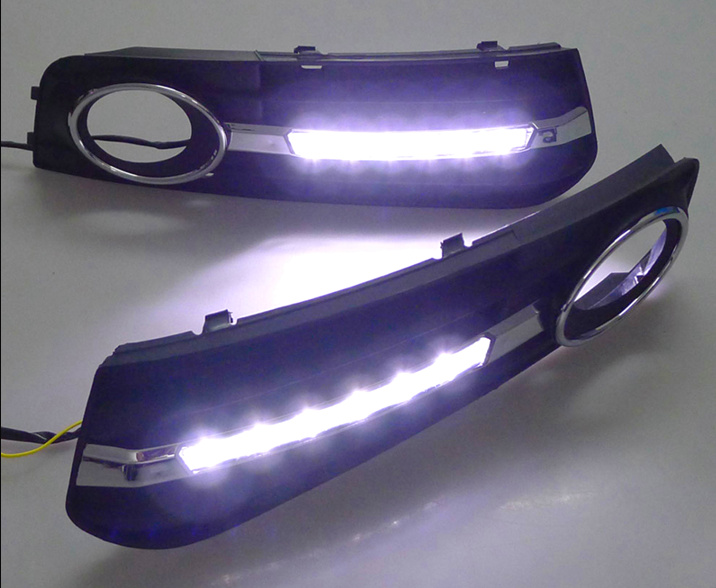 GuangDian 1 Set Car LED DRL Kit White Daytime Driving Running Lights Auto Led Daylight For Audi A4 A4L B8 2009-2012 Accessories lyc price for one set best led driving lights cars led lamp first car with led headlights driving with daylight running headlamp