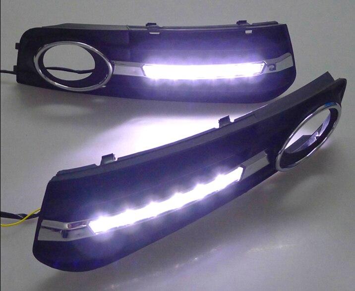 Tcart 1 Set voiture phare LED DRL blanc feux de jour conduite Auto LED lumière du jour pour Audi A4 A4L B8 2009-2012 accessoires