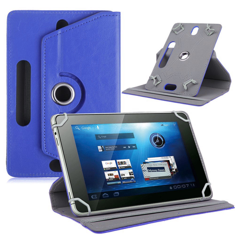 Myslc 360 Degree Rotating Cover for Assistant AP-757G 7 Inch Tablet PU Leather Protective Case