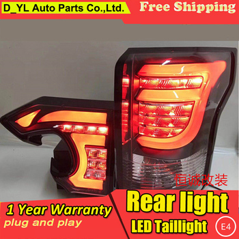 Car Styling for Ford F150 Raptor 2015-2017 American vertion taillights LED Tail Lamp rear trunk lamp drl+signal+brake+reverse