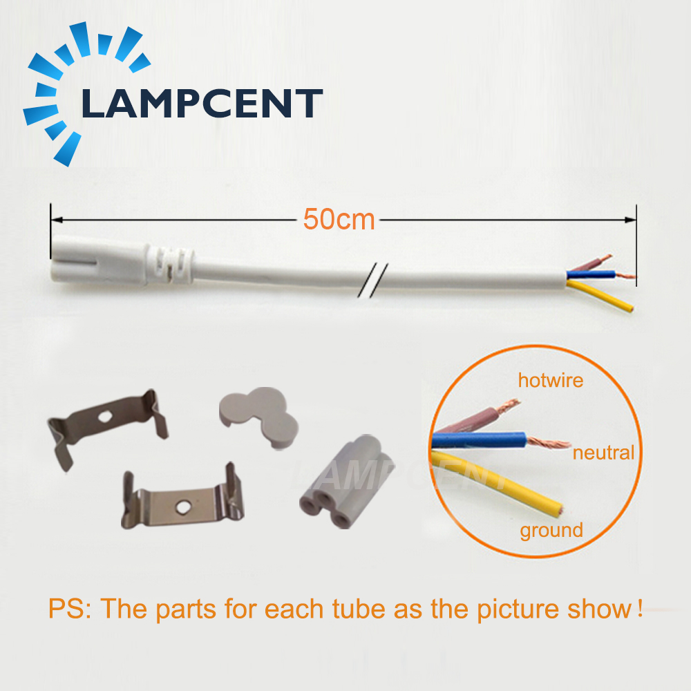 T5 LED Tube Intégré 2FT 3FT 4FT 5FT 6FT 8FT Lumière Montée Par Surface de 55/75/110 Pack - 3