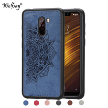 Xiaomi Pocophone F1 Shockproof Soft TPU Cloth Texture Hard PC Phone Case For Cover Shell