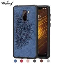 Xiaomi Pocophone F1 Shockproof Soft TPU Cloth Texture Hard PC Phone Case For Xiaomi Pocophone F1 Cover Xiaomi Pocophone F1 Shell