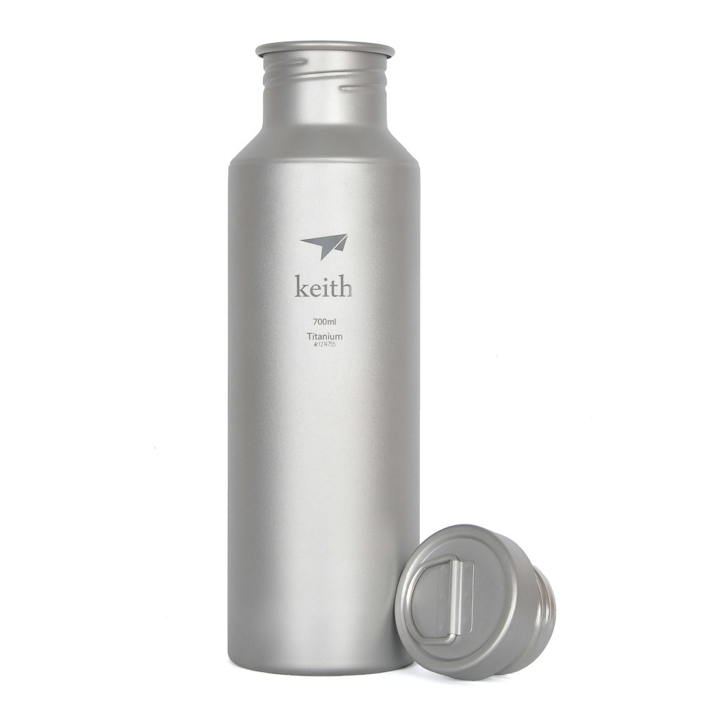 цена на Keith Ti3032 Titanium Cycling Sport Water Bottle Camping Bicycle Accessory Cookware 700ml Ti32