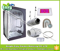 Complete Indoor Grow Tent Kits With 300W LED Grow Light And Ventilation Equipment Size 120X120X200CM