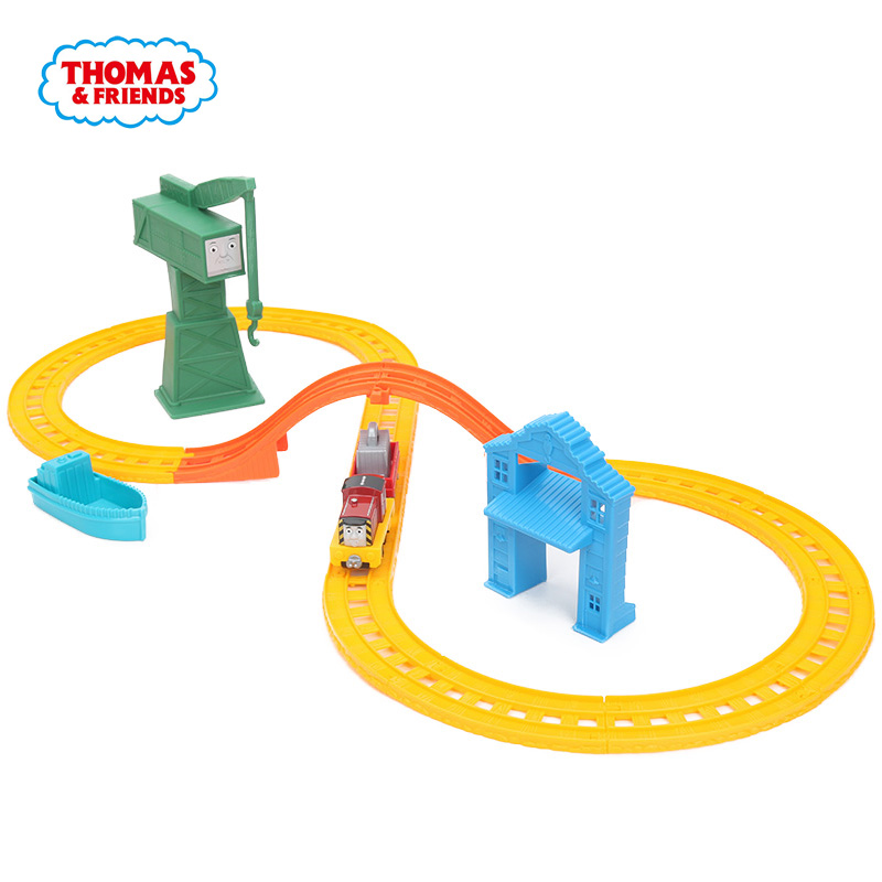 Thomas & Friends BHR95 Collectible Railway SALTY & CRANKY'S CARGO DROP Playset Wooden Train Track Accessories Thomas de trein