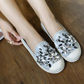 2016 Nueva Primavera de Atumn Rhinestone Dulce de Las Mujeres Zapatos Planos de Pisos Zapatos de Las Señoras de Moda Con Cuentas de Lujo Superstar Zapatos