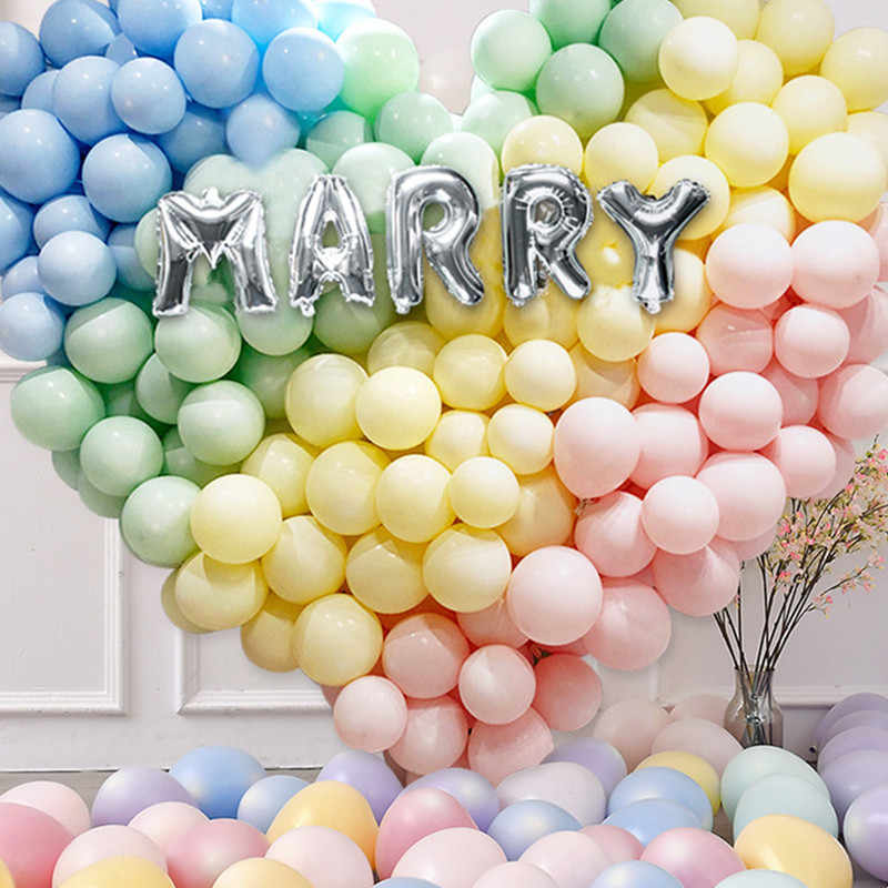 10pcs 12inch 2.2g Milk White Latex Balloon Inflatable Air Ball Children's Birthday Party Balloons Wedding Decoration Float Balls