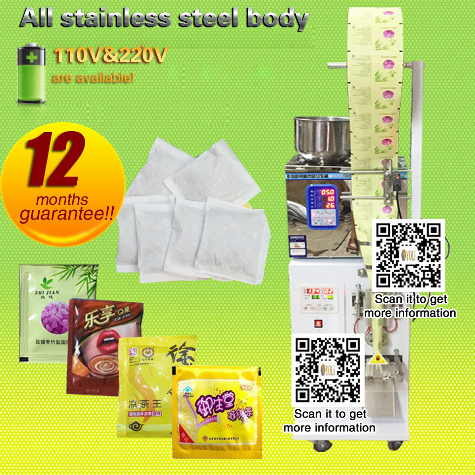 Pouch Packing Machine 2-200g Coffee Filling And Sealing Machine For Tea, Food, Seeds, Fruit With Panel