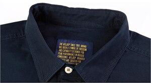 Image 5 - Uomini camicia a maniche lunghe camisa sociale militare 100% camicie di cotone di marca di autunno della molla esercito girare giù il collare 4xl camicie abbigliamento