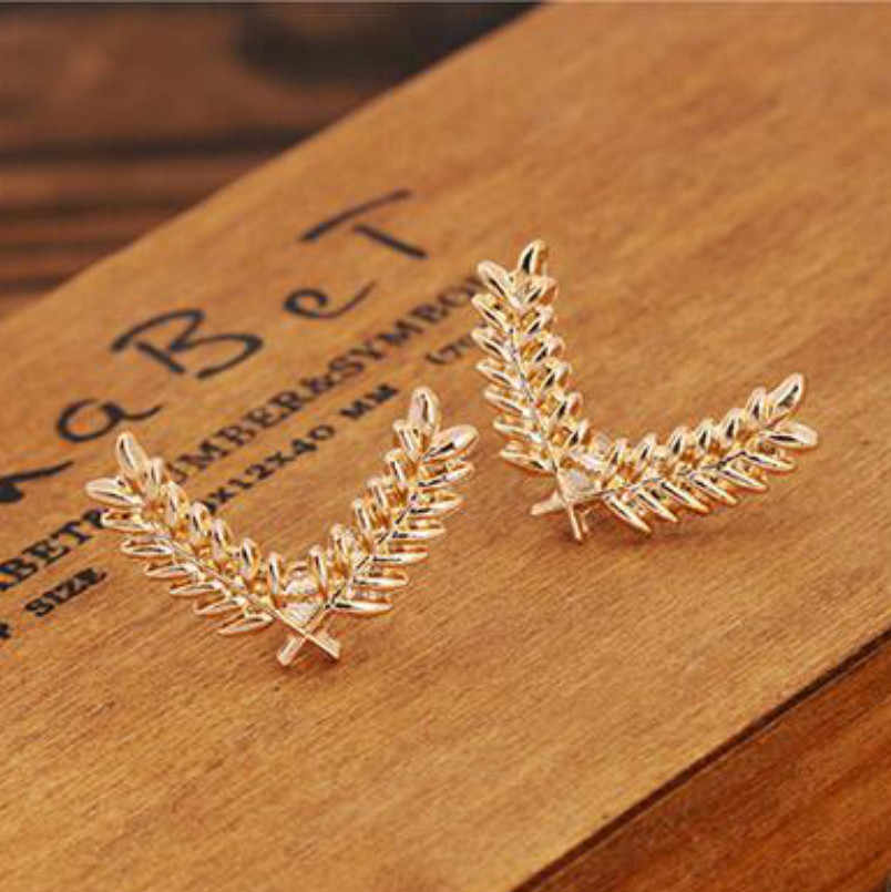 Korean Version Of The Suit And Shirt Collar Pin Small Three-dimensional Metal Wheat Brooch Buckle Collar Couple Accessories