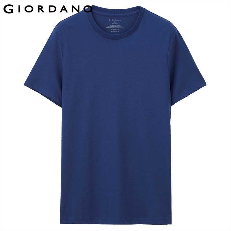 Giordano camisa masculina de algodão manga curta 3-pack camiseta sólida verão beathable masculino topos roupas masculina 01245504
