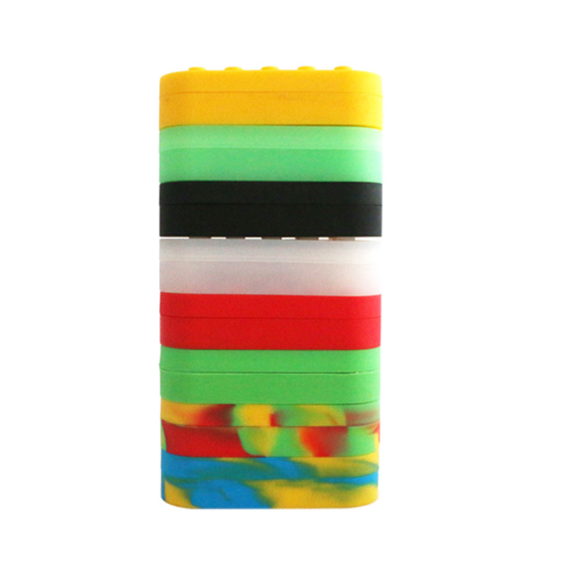 10pcs 7 in 1 Multi compartment Silicone Concentrate Container Non stick Large Lego Style Wax Oil