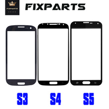 i9300 For SAMSUNG Galaxy S3 S4 S5 Mini Touch Panel Cover Front Outer Glass Lens Replace For SAMSUNG S5 Front Screen Lens i9505