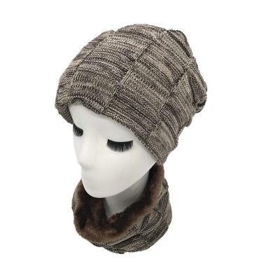 1680cbc1f93 Dropwow New Fashion Hats men Winter Wool Ski Hat scarf Set Head ...
