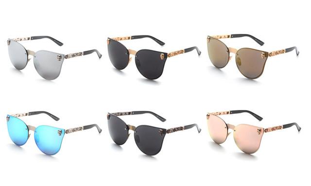 Brand Vintage Mirror Sunglasses
